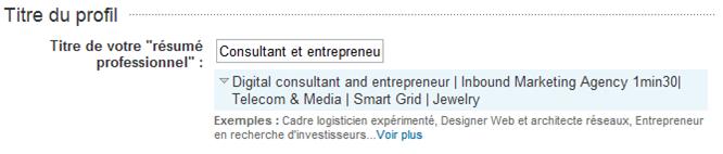 Résumé LinkedIn