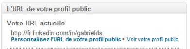 URL public LinkedIn