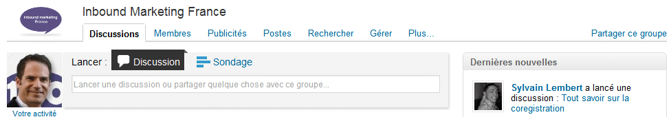 Groupe LinkedIn Inbound Marketing France