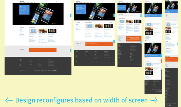 Responsive design preview Microsoft