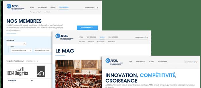 Nouveau site de l'AFDEL