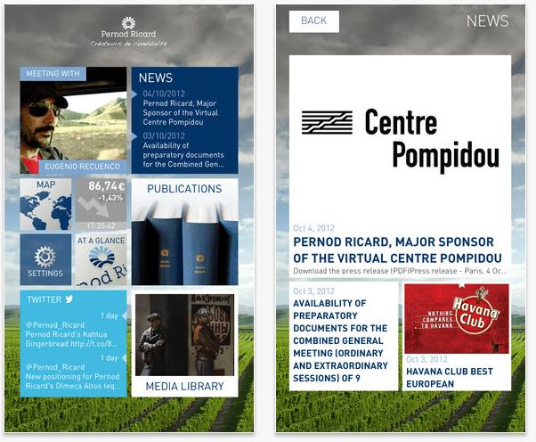 Application Itunes Pernod Ricard