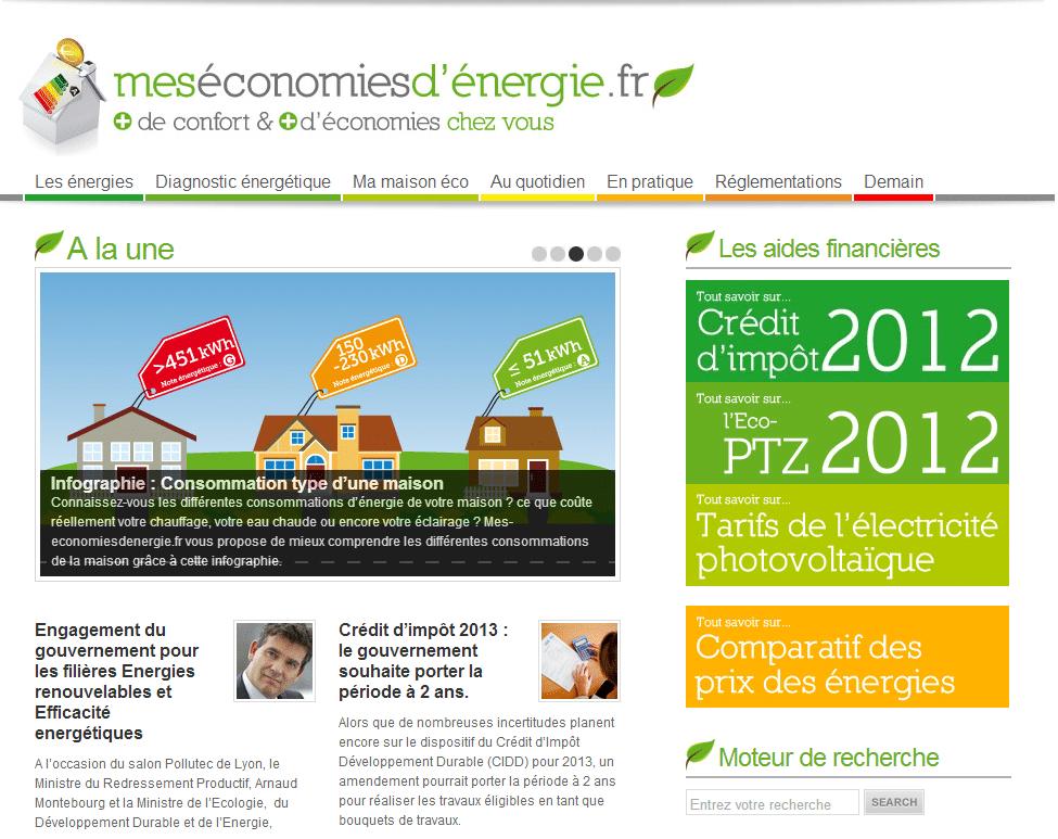 Blog séparé mes économies d'énergie Evasol