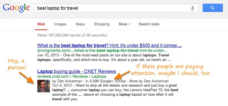 Extrait enrichis Google Auteur