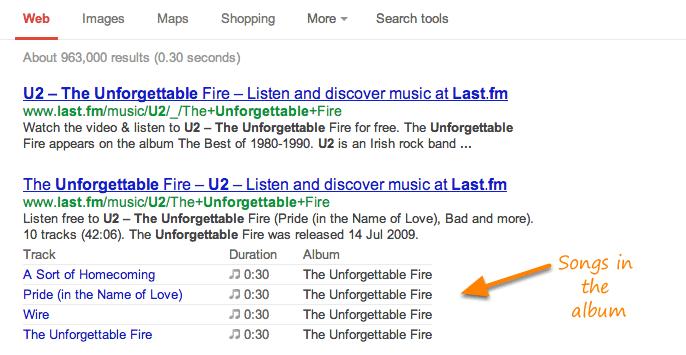 extrait enrichi google music