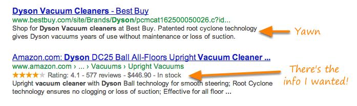 extrait enrichi google produit