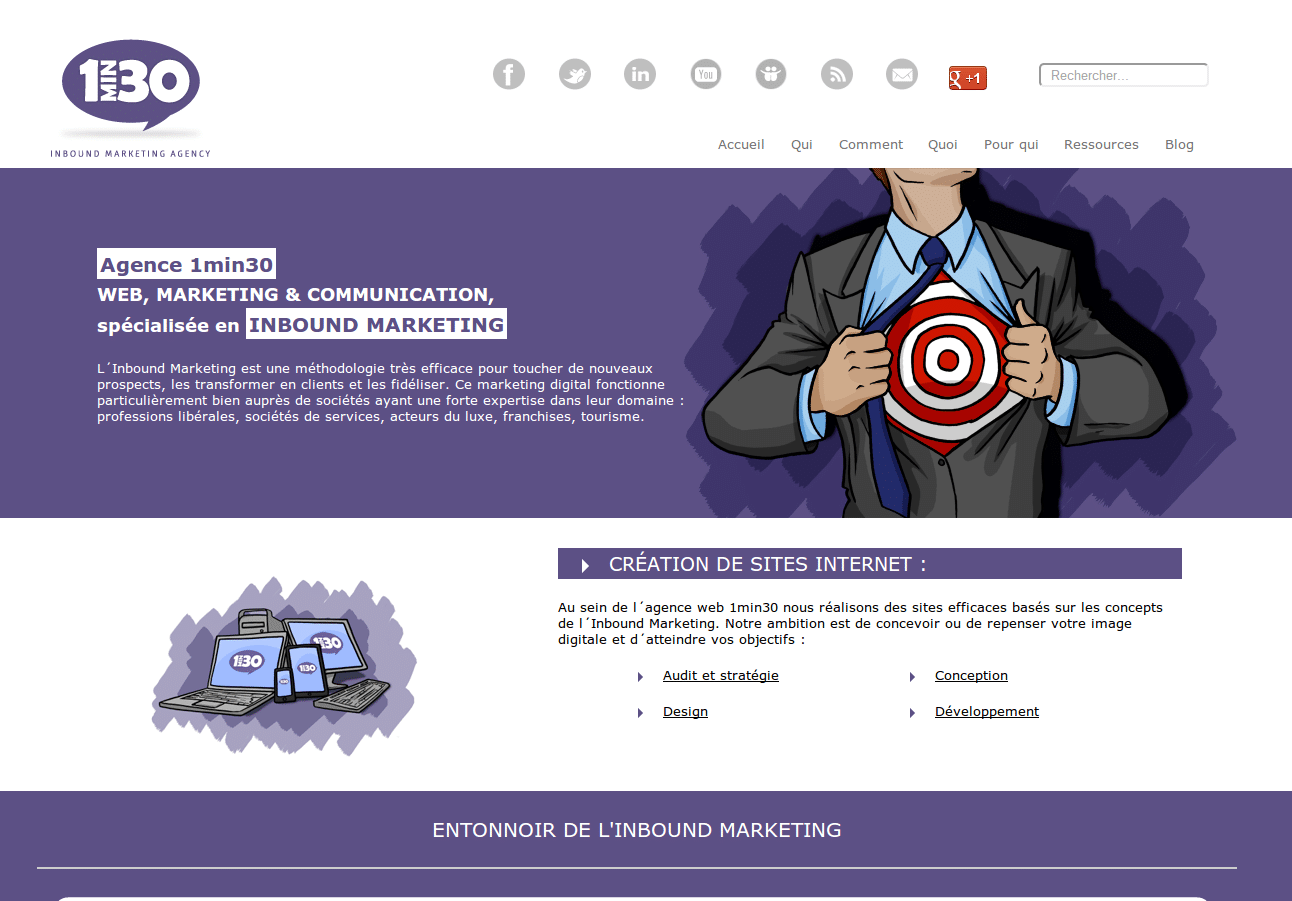 Nouveau site agence web marketing communication 1min30