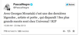 Pascal Nègre et la mort de Moustaki: laissons là nos tartufferies de cimetières | Slate.fr