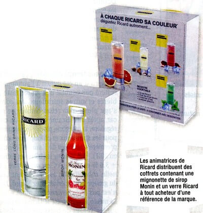Marketing promotionnel: vente avec primes Ricard