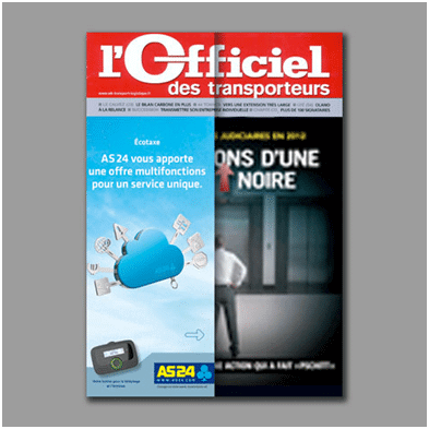 Support de publicité: couverture de magazine