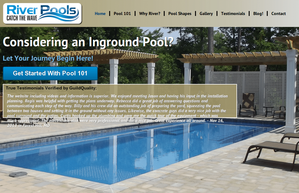 River Pools & Spa Website