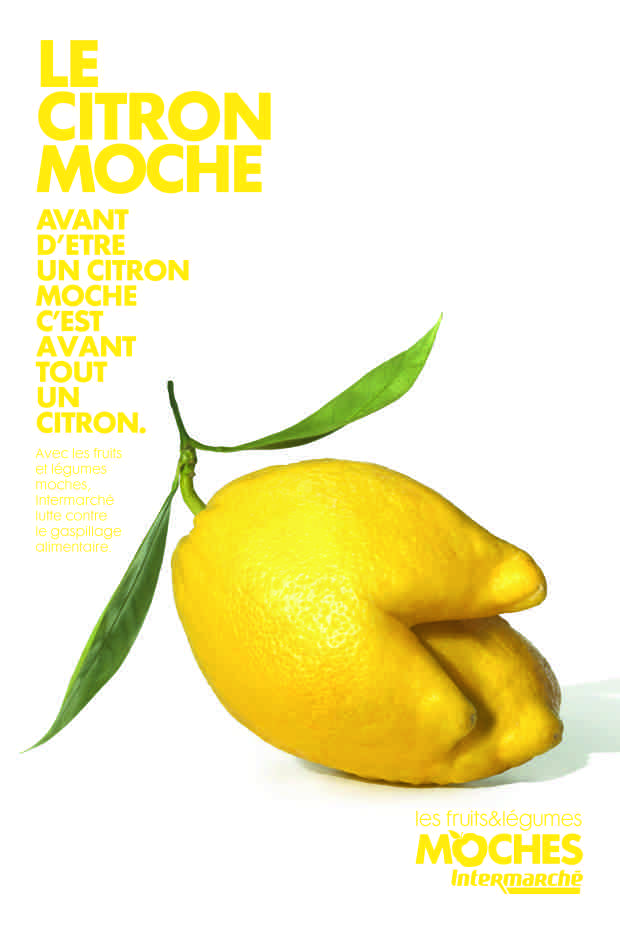 Marketing d'Intermarché: print fruits