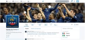 Image du compte Twitter de l'équipe de France de Football