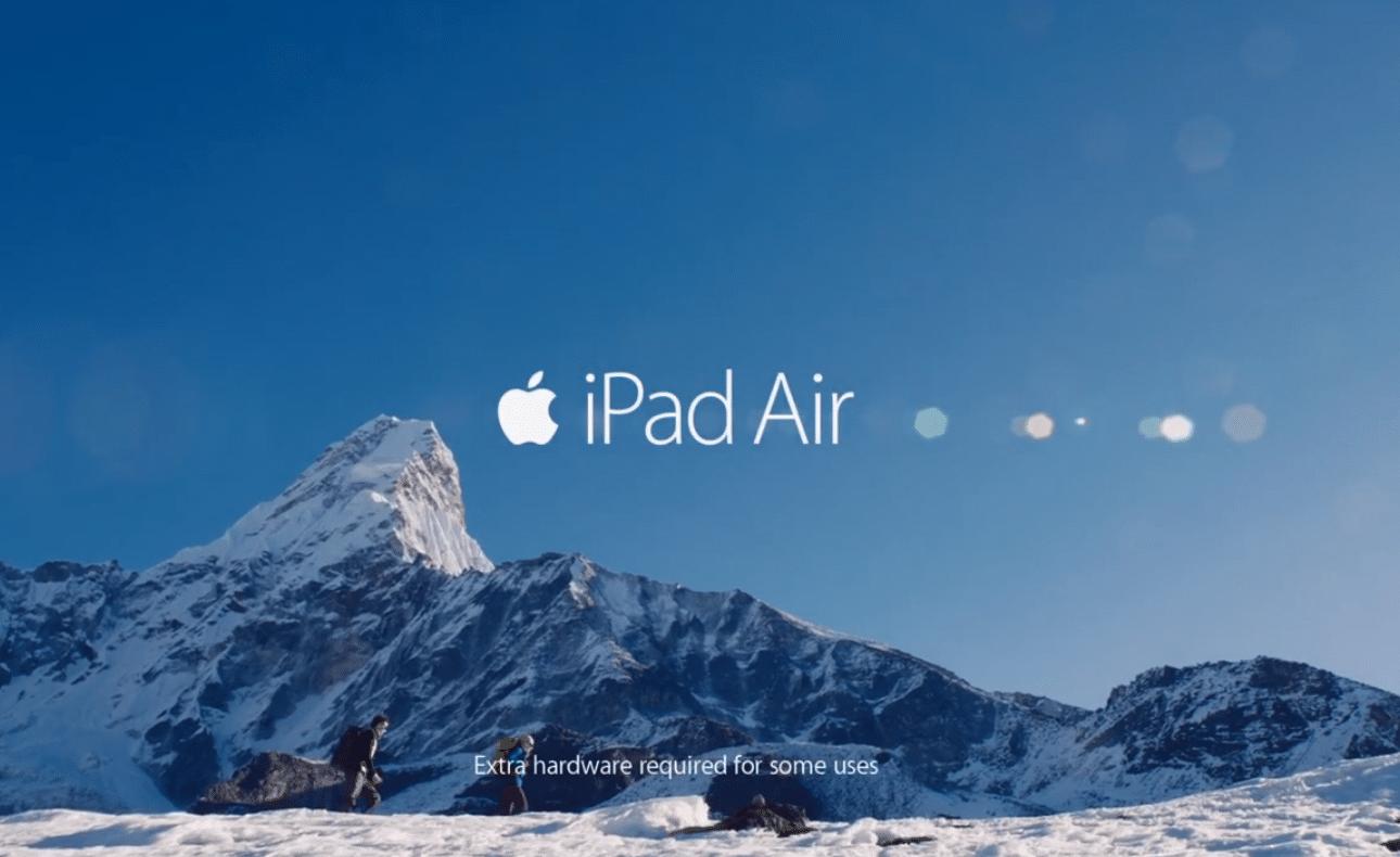 iPad Air publicité