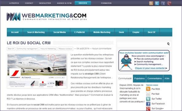 webmarketing-com ROI Social CRM