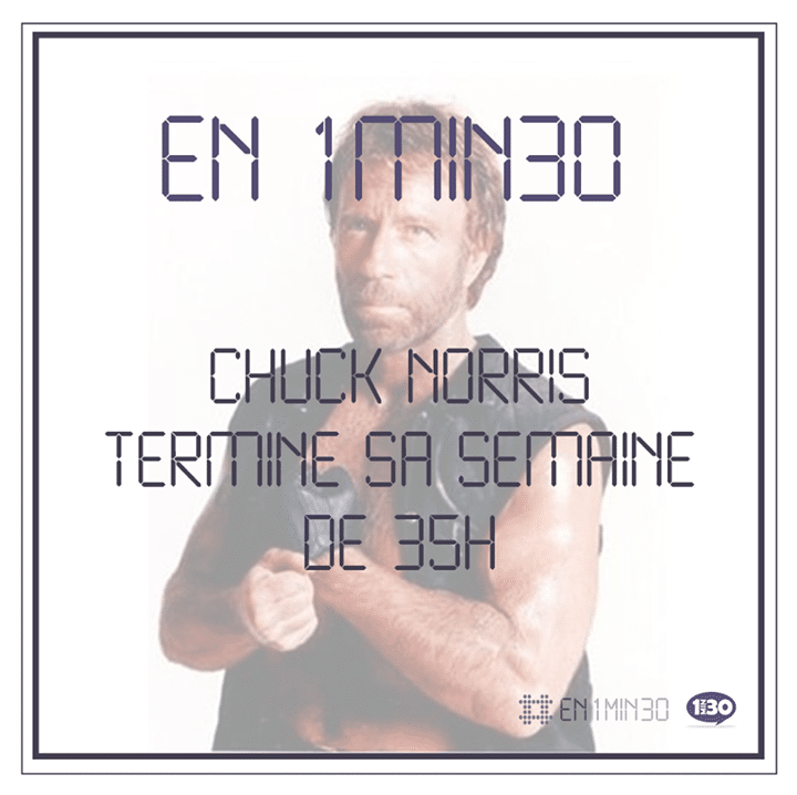 En 1min30, Chuck Norris termine sa semaine de 35h