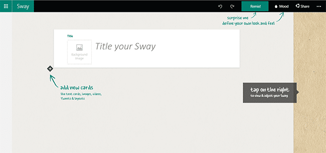 Sway Microsoft