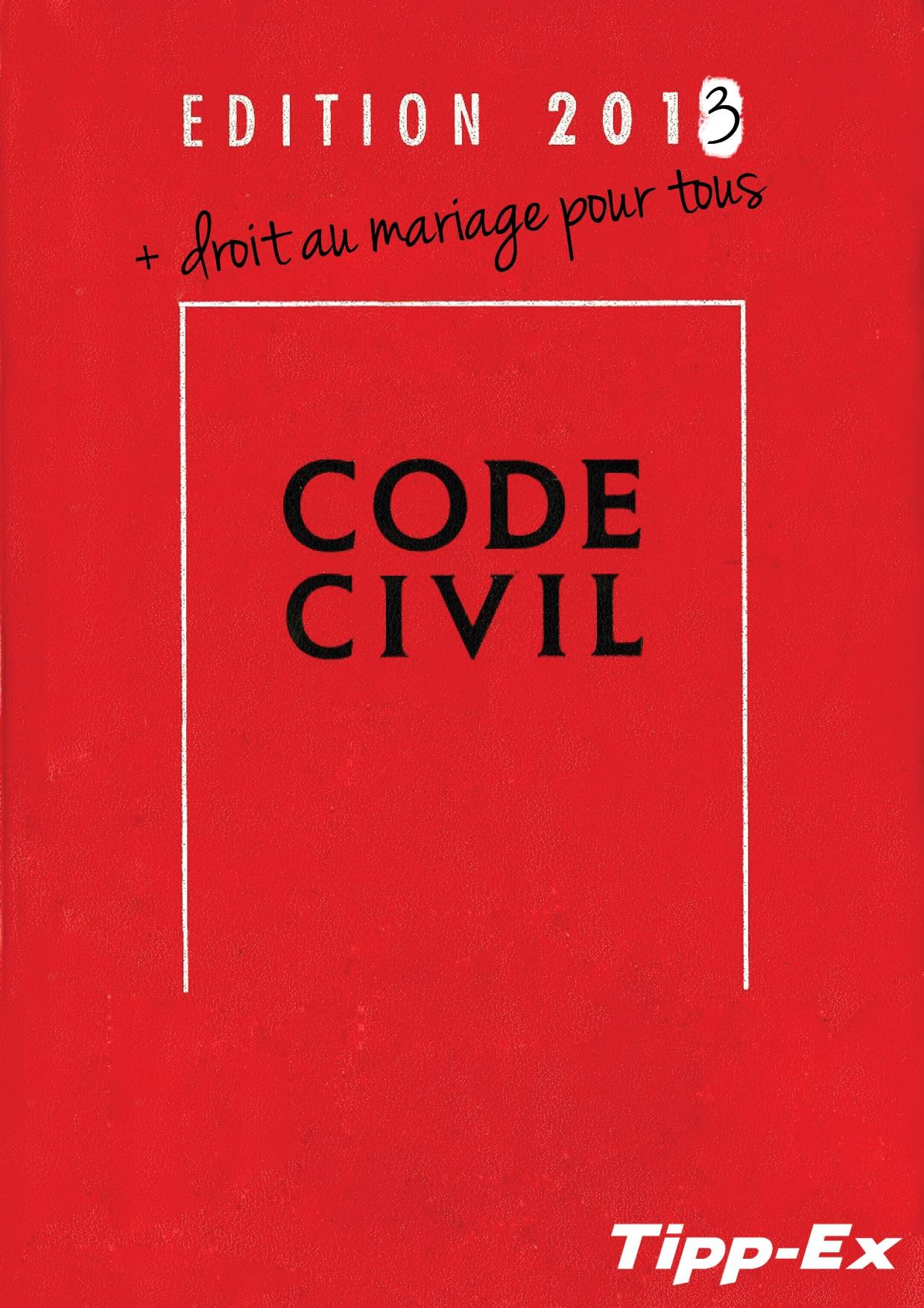 Une image de Tippex et le code civil