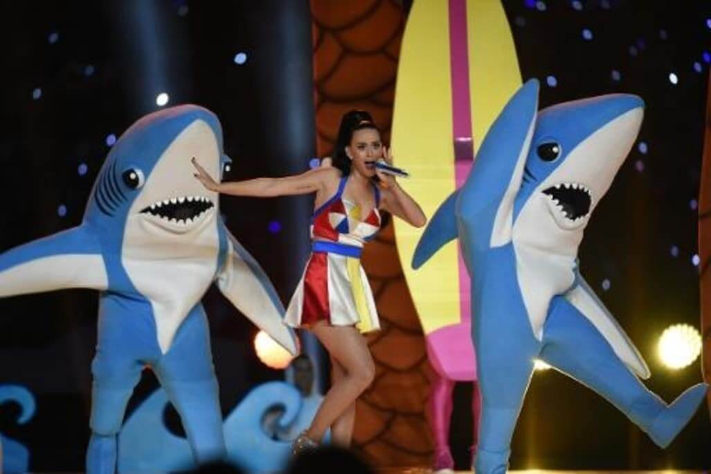 Katy Perry lors du Super Bowl 2015