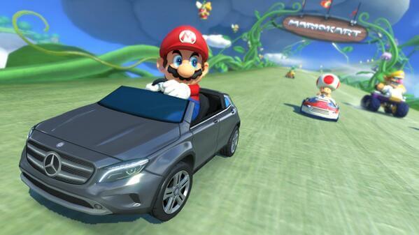 Mercedes et Nintendo associés pour la promotion d'une voiture dans un jeu vidéo
