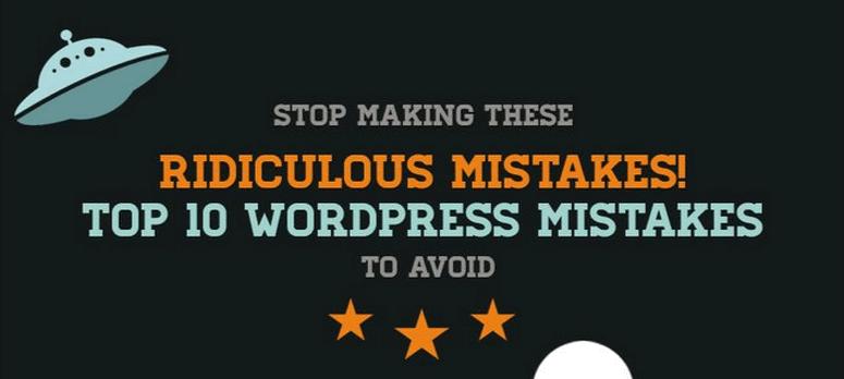 LEs erreurs pour un site web sur WordPress