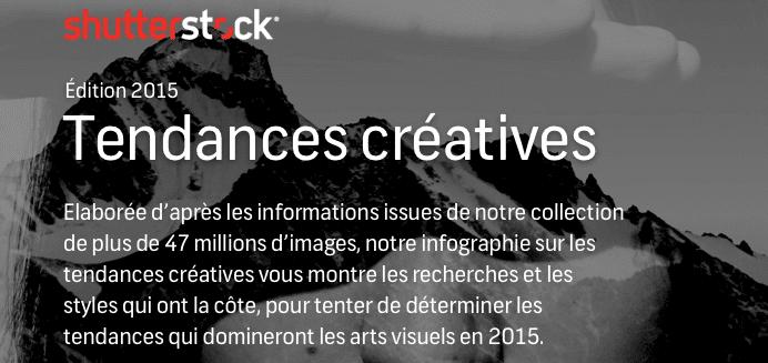 Une infographie autour des tendances créatives en 2015