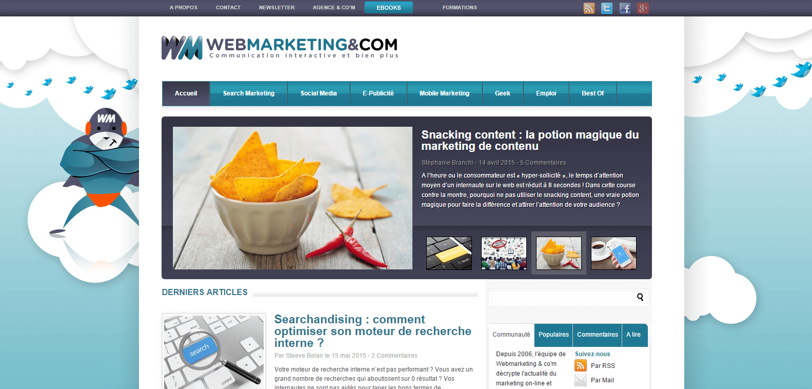 Site web du blog Webmarketing-com
