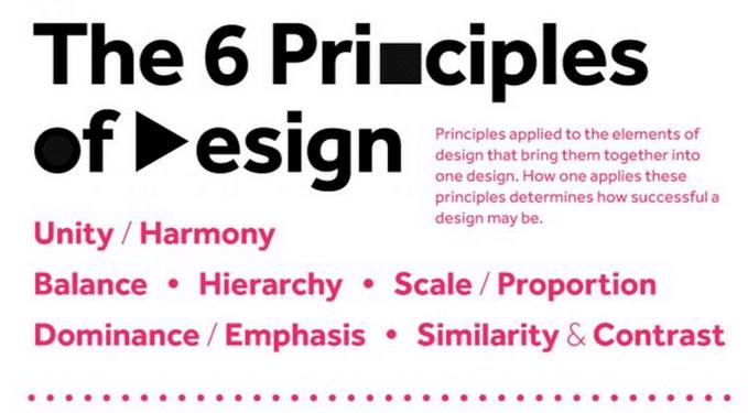 Principes de design en infographie