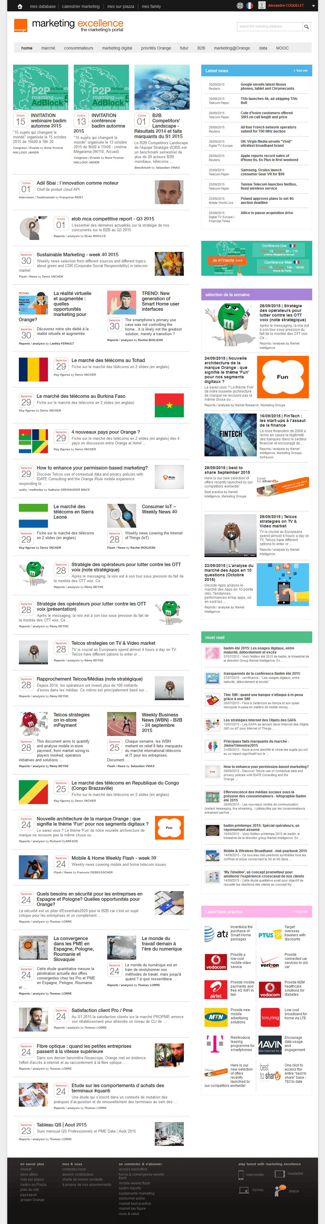 Homepage Orange