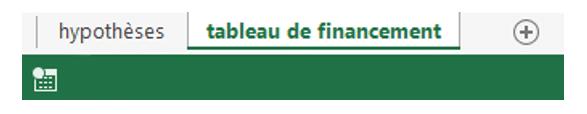 Tableau de financement avec Excel