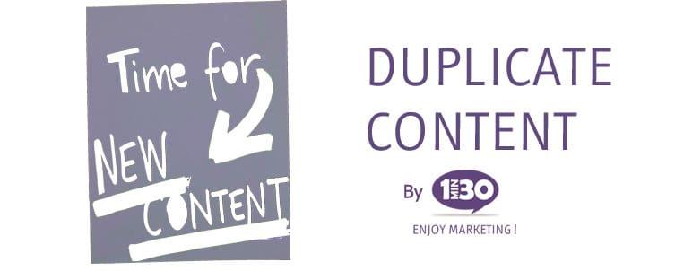 La définition du duplicate content