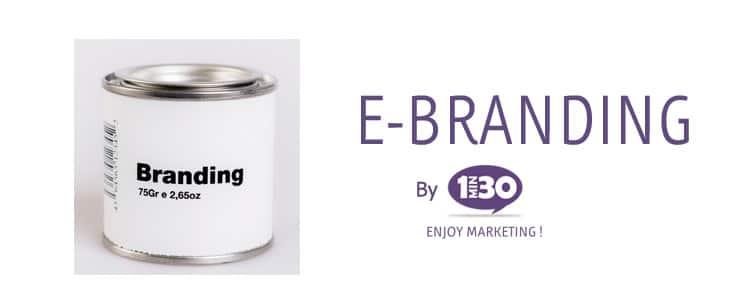 La définition de l'e-branding