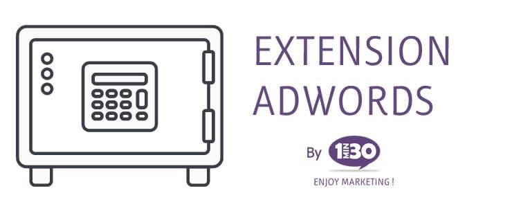 La définition d'une extension Adwords