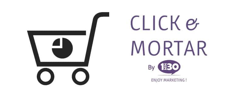 La définition de clic & mortar
