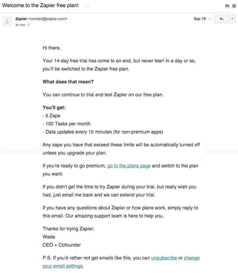 zapier-welcome-email