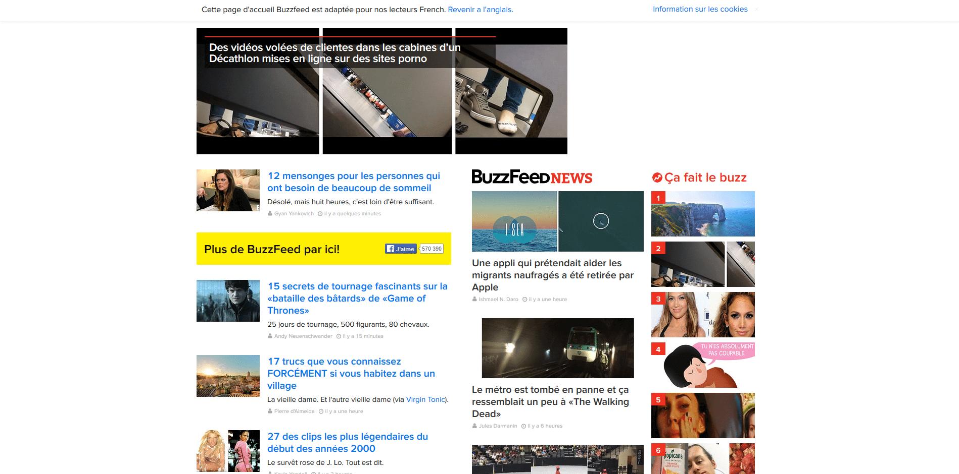 Buzzfeed les rois du clicbait