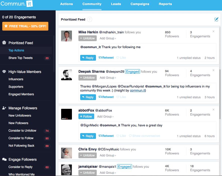 Commun.it: gestion communauté Twitter