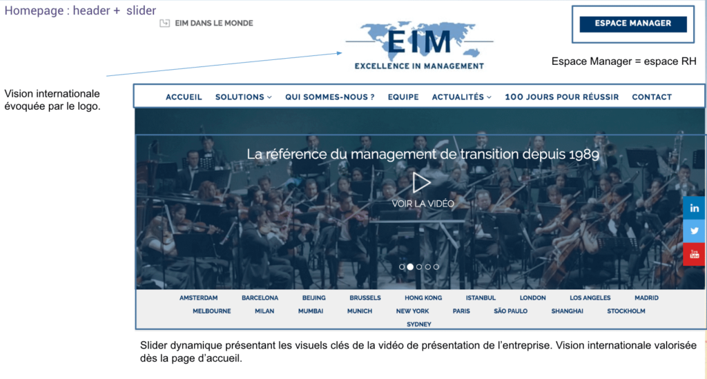 Page d'accueil EIM