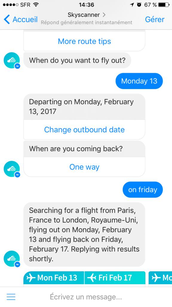 Comment parler à un chatbot sur messenger ?