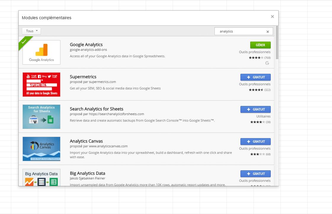 Générez, automatisez et analysez vos rapports de performance avec Google Analytics Spreadsheet