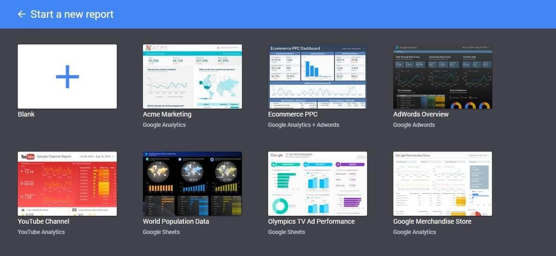 reporting web data studio