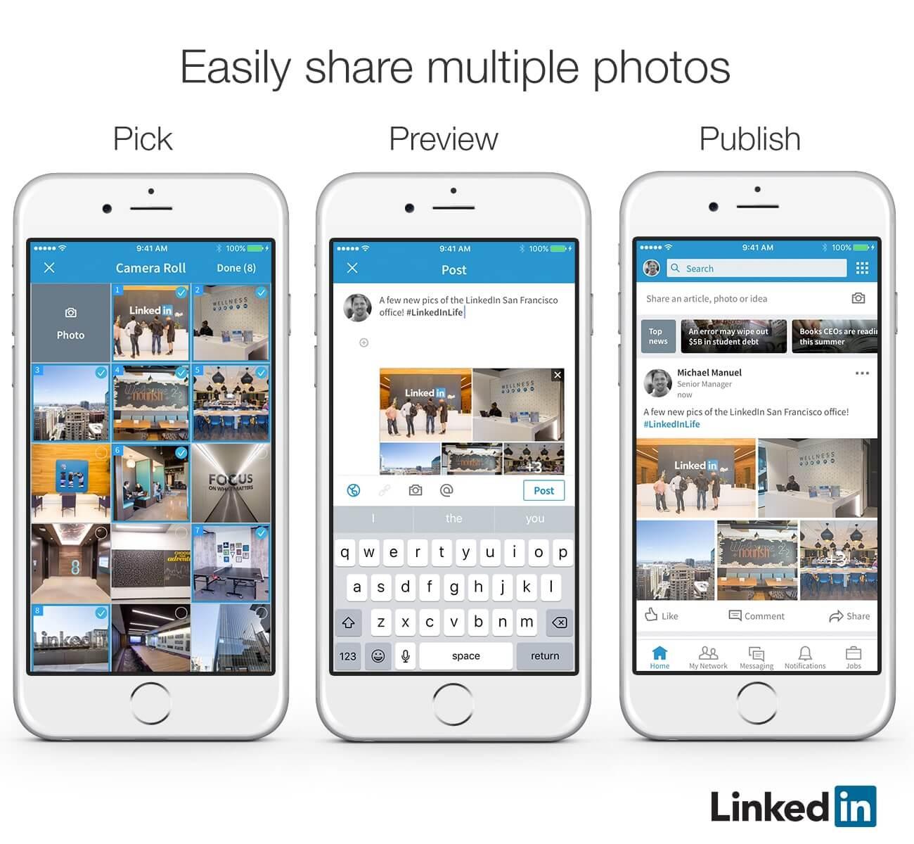5 nouvelles fonctionnalités LinkedIn