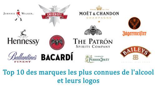 Top 10 des marques les plus connues de l'alcool et leurs logos