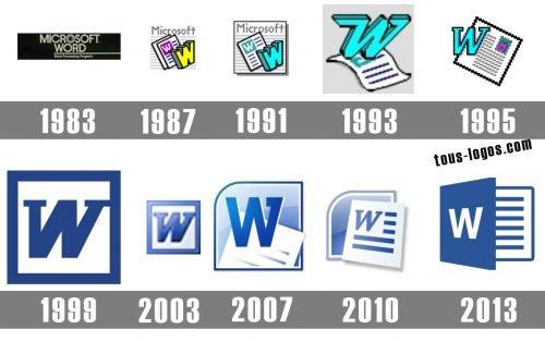 Word logo histoire