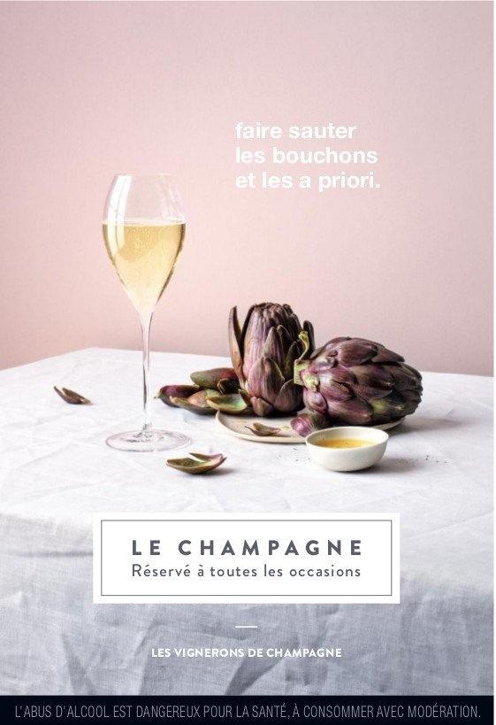 Le champagne, réservé à toutes les occasions.