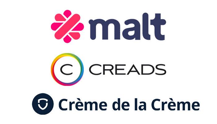 Quelle est la meilleure plateforme pour trouver des freelances marketing/digital ? Malt, Creads ou Crème de la Crème ?