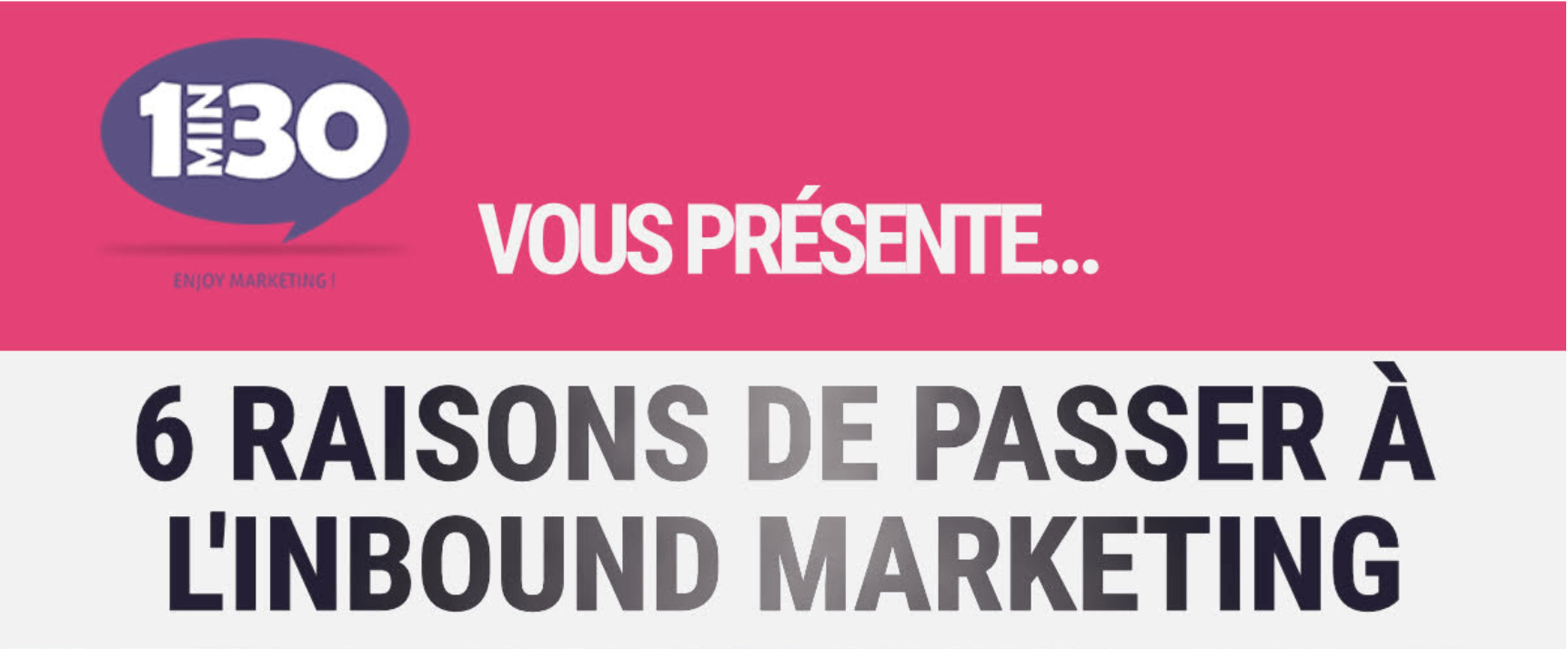 Infographie : 6 raisons de passer à l'Inbound marketing