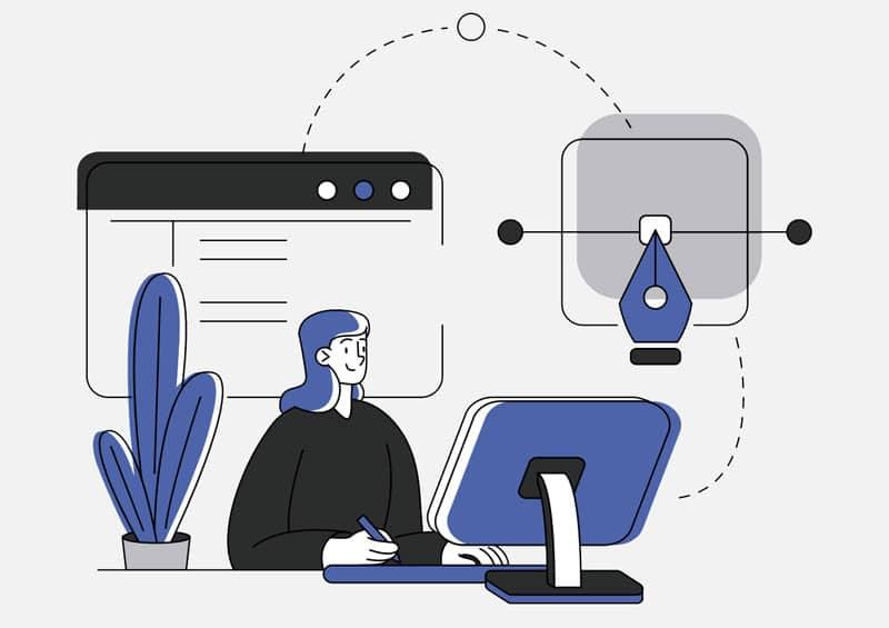 Programmatrice en train de designer une application mobile