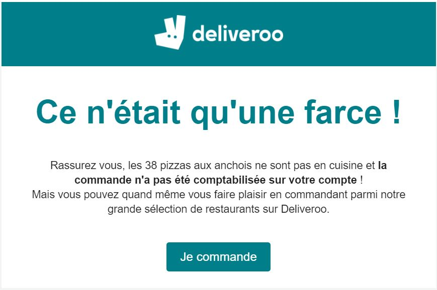 Bad buzz deliveroo experience client
