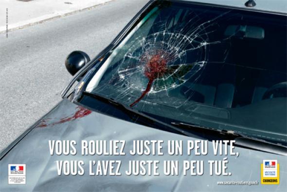 Affiche marketing émotionnel sécurité routière